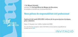 Presentació de la nova Pòlissa de Responsabilitat Civil Professional